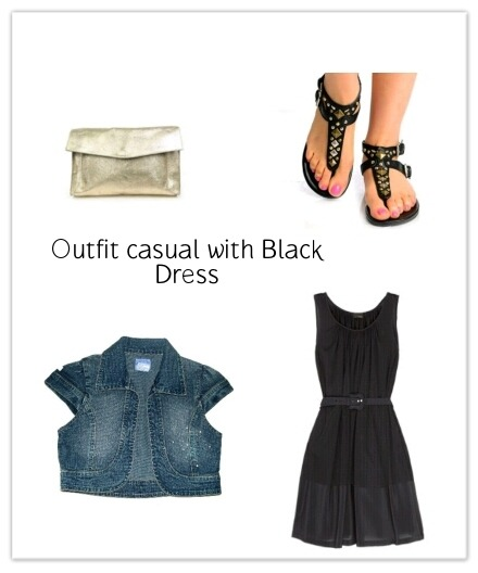 Outfit with black dress