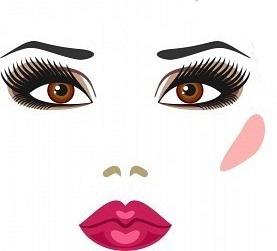 maquillaje con ojos marrones
