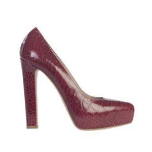zapato pitón rojo