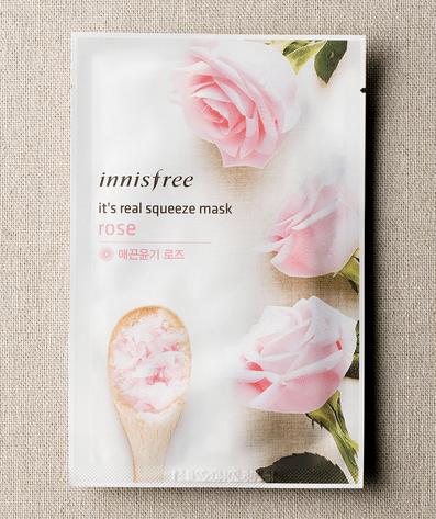 mascarilla facial de rosa