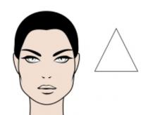 rostro triangular