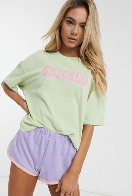 pijama colores pasteles